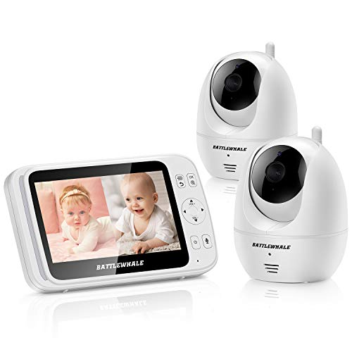 Baby Monitor with 2 Cameras and 5' LCD,Screen...