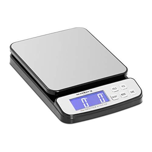 Steinberg Systems Balanza Pesacartas Digital Báscula Para Correo SBS-PT-50000 (Superficie: 198 x 180 mm, Pesaje: 5 g - 50 kg, Precisión: 1 g)