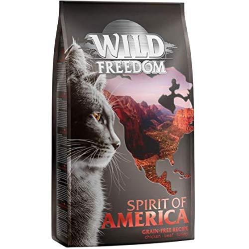 Wild Freedom 2kg Dry Food + 12 x 100g Cosma Asia Pouches Free (Spirit of America)