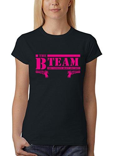 ::: B-Team Pistole & Braut ::: JGA, Damen, Schwarz mit Pink, Team, L Sale II