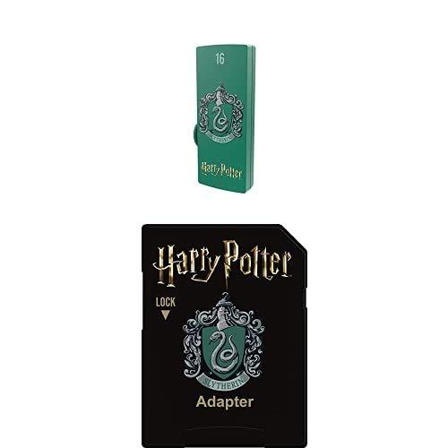 Pack Support de Stockage Rapide et Performant Harry Potter : Clé USB - 2.0 - Série Licence - Harry Potter Slytherin - 16 Go + Carte MicroSD - Collection Harry Potter - Slytherin - 32 Go