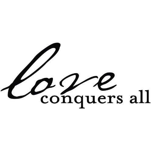 Die Cuts With A View Vinyl Love Conquers All, Black, Medium