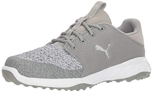 PUMA Golf Men's Grip Fusion Sport Golf Shoe, Limestone-Gray Violet, 12 M US