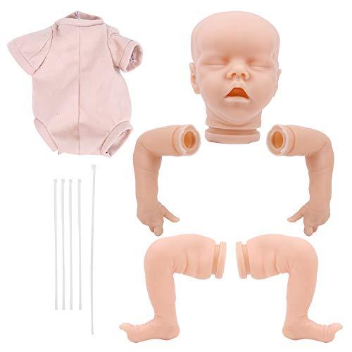 Kits de Muñecas Reborn, Kit de Muñecas Sin Pintar de Silicona Suave de 18 Pulgadas, Suministros para Hacer Muñecas Reborn en Blanco para Bebés Recién Nacidos Realistas con Cabeza, Manos, etc(#1)