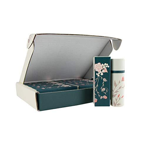Wachsmann | Hochwertige Papp-Tiegel & Lippenstift-Hülsen | Für nachhaltige DIY-Naturkosmetik | Mit Geschenkverpackung | Lippenpflege- und Creme selber machen (Lippenstift 10 g | 10 Stück)