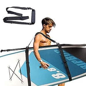 Tracolla per Tavola da Surf, Cinghia di Trasporto per Kayak Tracolla per Tavola da Surf Sup Stand up Paddle Board Supporto per Spallacci Tracolla Porta Surf Accessori per Tavola da Surf