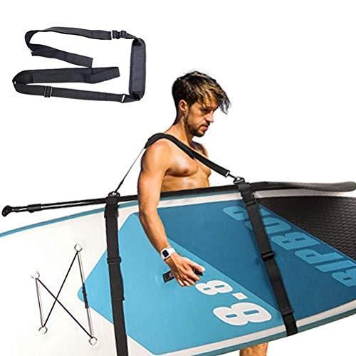 Kangmeile Correa de transporte para tabla de surf con hebilla de goma para kayak, canoa, surf, vela, unisex, color negro