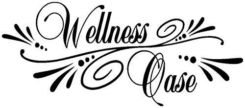 Samunshi® Wandtattoo Wellness Oase Wandsticker in 8 Größen und 25 Farben (50x22cm schwarz)