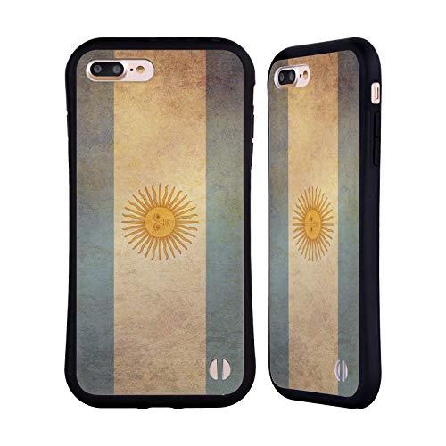 Head Case Designs Argentina Argentino Conjunto de Banderas Vintage 2 Carcasa híbrida Compatible con Apple iPhone 7 Plus/iPhone 8 Plus