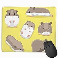 マウスパッド オフィス 最適 ハムスター ゴロゴロ 食べる 寝る ゲーミング 光学式マウス対応 防水性 耐久性 滑り止め 多機能 標準サイズ25cm×30cm