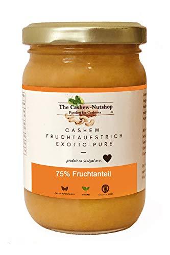 Cashew Fruchtaufstrich (270g) | 75% Fruchtanteil | Einzigartige Frucht | Nur bei uns | Exotic Pure | Vegan | Ohne Konservierungsstoffe | Ohne Farbstoffzusatz | Ohne Zusatz von Aromen