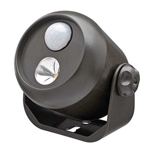 Mr. Beams MB310 Wireless LED Mini Spotlight with Motion Sensor and Photocell, Small, 80-Lumens, Brown
