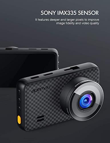 APEMAN 1440P&1080P Dashcam vorne und hinten, Maximal 1520P, 128 GB Unterstützung, 170° Dashcam Autokamera mit 3 Zoll IPS-Bildschirm, Nachtsicht mit IR-Sensor, Bewegungserkennung, Einpark-Monitor - 2