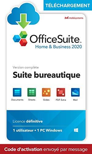 OfficeSuite Home & Business 2020 - TÉLÉCHARGEMENT/Licence en ligne - Compatible avec Microsoft® Office Word®, Excel® & PowerPoint® et Adobe® PDF pour PC Windows 10, 8.1, 8, 7 (1PC / 1User)