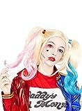Funidelia | Peluca de Harley Quinn - Escuadrón Suicida Oficial para Mujer ▶ Superhéroes, DC Comics, Suicide Squad, Villanos - Color: Multicolor, Accesorio para Disfraz - Licencia: 100% Oficial