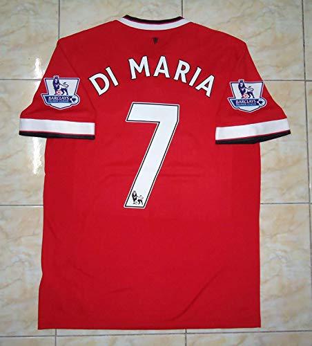 Angel DI Maria#7 Retro Jersey Fussball-Trikot 2011-2012 Full Premier Patch RED Color (XL)