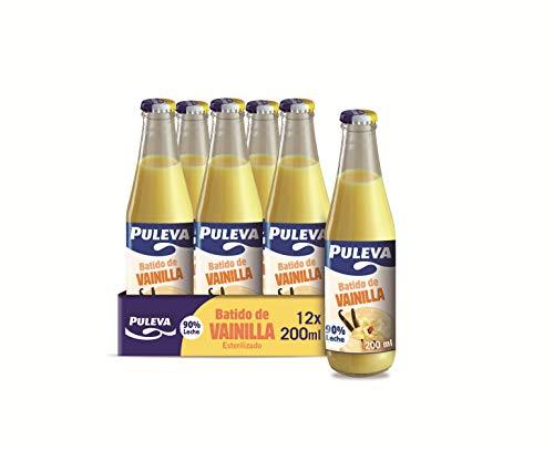 Puleva Batido de Vainilla - Caja con 12 botellas de cristal de 200ml