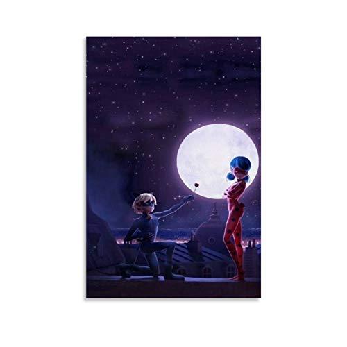 Póster artístico de personajes ficcionales de la película Magic Ladybug Moonlight Rose Canvas Art Poster y Wall Art Print Modern...