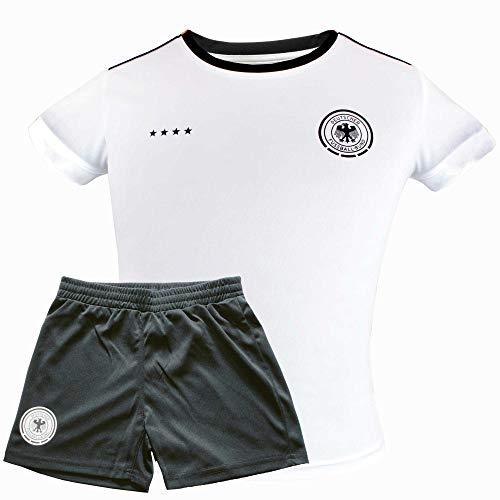 Original DFB Fußball Kinder-Trikot-Set Trikot & Hose Deutschland Nationalmannschaft Weltmeister (140)