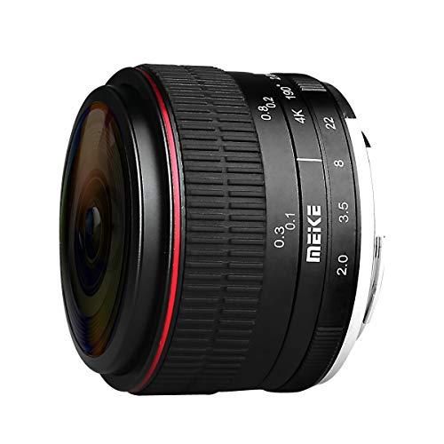 Meike Lente ojo de pez de 6,5 mm f/2.0 para cámaras Fuji X-mount sin espejo