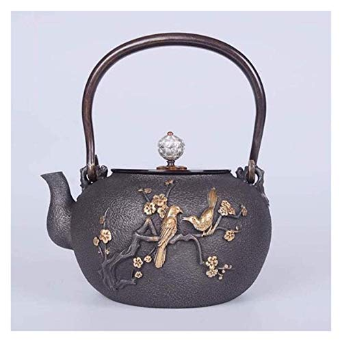 CHAIODENGZI Kettle Cast Iron Small Tea Kettle Cast Iron Vintage Tea Maker for Loose Leaf Tea for Party Office Home 1400ml Tetsubin Heat Resistant/Product Code: WWA-1853Merchant suggestion