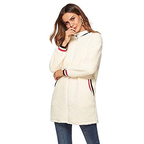 ELEAMO Women'S Teddy vesten pluche pluizige warme jassen winterjassen revers bovenkleding met zakken
