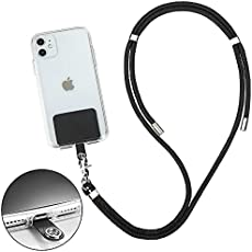 Tmate Phone Lanyard - Adjustable Strap Holder for Around the Neck Crossbody Carrier Necklace Leash Bag back Pouch Purse for iPhone Android Cases Universal Cell Phone Accessories Charms