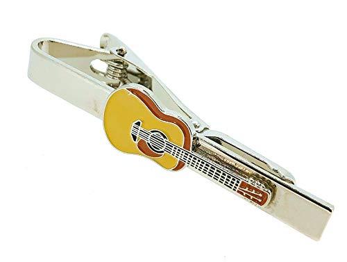 Gemelolandia Pasador de Corbata Guitarra Española Esmaltada Modelo II   Pisa Corbatas Para usar en Bodas y en Eventos formales   Da un toque Elegante   Complementos de Moda Para Hombres