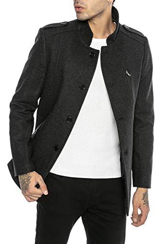 Redbridge Cappotto da Uomo elegante Giacca lunga invernale Slim Fit Casual Chic Grigio XL