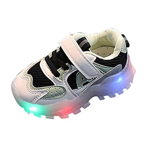 YWLINK Zapatos para NiñOs,Zapatos con Flash Led Calzado Deportivo Al Aire Libre Zapatillas De Correr Antideslizante Blando Transpirable Ciclismo Zapatos De Playa Zapatos De Lona Zapatos Brillantes