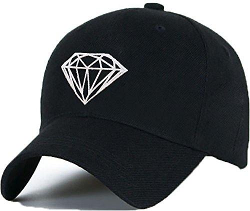 Morefaz Baseballmütze Cap Diamant Hut Snapback Cap Hip-Hop Unisex Damen und Herren