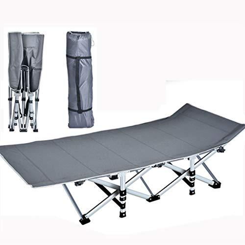 Zedicn Veldbed, draagbaar, eenvoudige slaapbank met draagtas, voor outdoor-office, buiten logeerbed