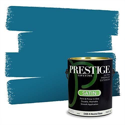 Prestige Paints Exterior Paint and Primer In One, 1-Gallon, Satin, Comparable Match of Valspar* Pacific Pleasure*
