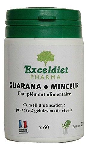 Facilite la Perte de Poids | Tonus | Vitalité | Fatigue | Guarana + Minceur 60 Gélules | Fabriqué en France