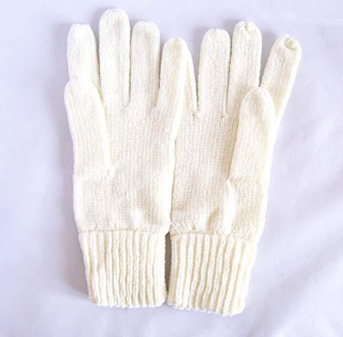 Gants de tissu chenille élastiques Blanc cassé. envoi gratuit 72h