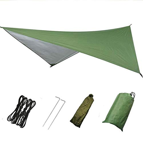 YRDDJQ Aerial tent Outdoor Camping 2 Person Hammock with Mosquito Net and Sun Shelter Portable Parachute Swing Hammocks,green
