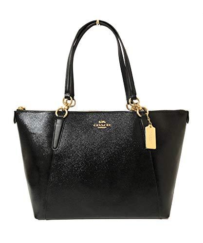 Coach Patent Crossgrain Leather Ava Tote Shoulder Bag