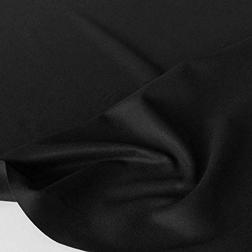 TOLKO Winter Wollstoff/Mantelstoff als Meterware | weiches schweres Loden Wolltuch für Mantel, Jacke, Sakko | 150cm breit (Schwarz)