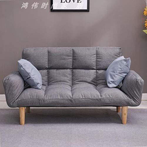 YUJINMAOYI Étage canapé-lit avec Deux oreillers 5 Position réglable canapé Paresseux Meubles de Style Japonais Salon Reclining canapé Pliant canapé,BM215-0