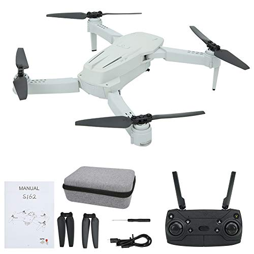 Meiyya RC Drone, RC GPS Drone High Definition Camera 6 Axle Quadcopter, for Outdoor Model Lovers Kids Adult(Gray 2.4G 4K WiFi)