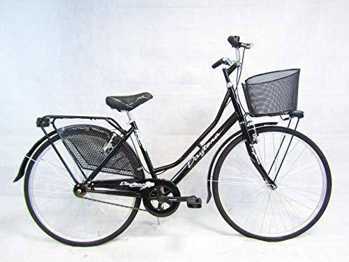 bicicletta donna bici da passeggio olandese 26 city bike Daytona con cesto nera