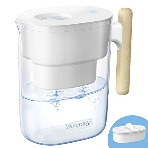 Waterdrop Chubby 10-Cup Water Filter Pitcher with 1 Filter for 23.00