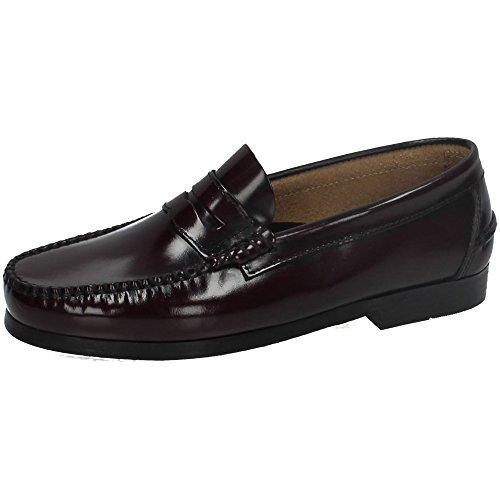 ZAPATOP 1001 Castellanos DE Piel Hombre Zapatos MOCASÍN Burdeos 43
