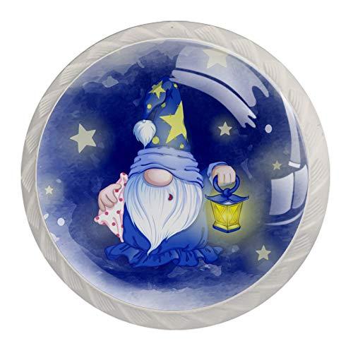 Manopole da bagno Il vecchio cuscino stelle Il cassetto tira le manopole rotonde dei comodini per la camera 4 pezzi 3.5×2.8CM