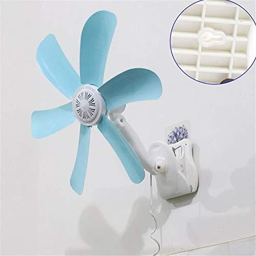 Wandventilator Pinnwand Fan der Wand befestigter Ventilator Quiet 5 Blätter Elektro Clip Fan Breezer Cooler Stroller Fans Ventilator Multifunktions-Wandbehang Tabellen-Faltblatt-Fan