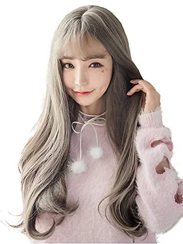 Pruiken, dames lange rechte haar, gradiëntkleur Lolita pruiken, zacht en donzig, dameskleding, natuurlijk, hittebestendig, modieus, gezichtsvermogen