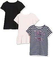 Spotted Zebra T-Shirt a Maniche Corte Bambina, Pacco da 3