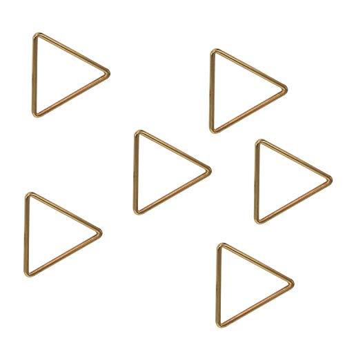 Weddecor metalen driehoekige jumpringen haken gesloten driehoek hoepel lus clip voor portemonnees, armband, webbing banden, bagage, tassen, riemen, doe-het-zelf projecten