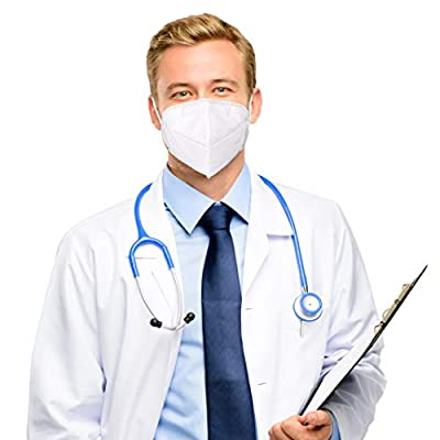 50 Pack - Face Masks - Anti-Dust, Anti-Pollen, Anti-Fog, 5 Layers of Filtering - Highest Quality