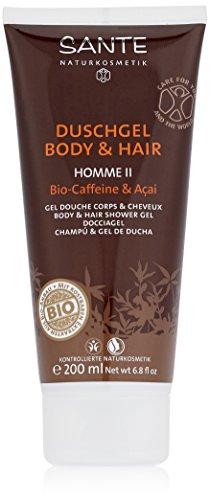 Sante Naturkosmetik Homme II Duschgel Body und Hair Bio Acai 200ml, 4er Pack (4 x 200 ml)